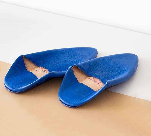 Marjorelle blue slippers