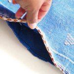 blue sabra cushion