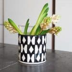 Black and white pattern vase Chabi Chic