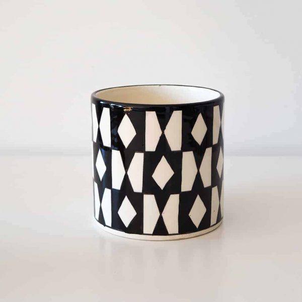 black-pattern-vase