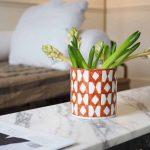 ceramic orange pattern vase