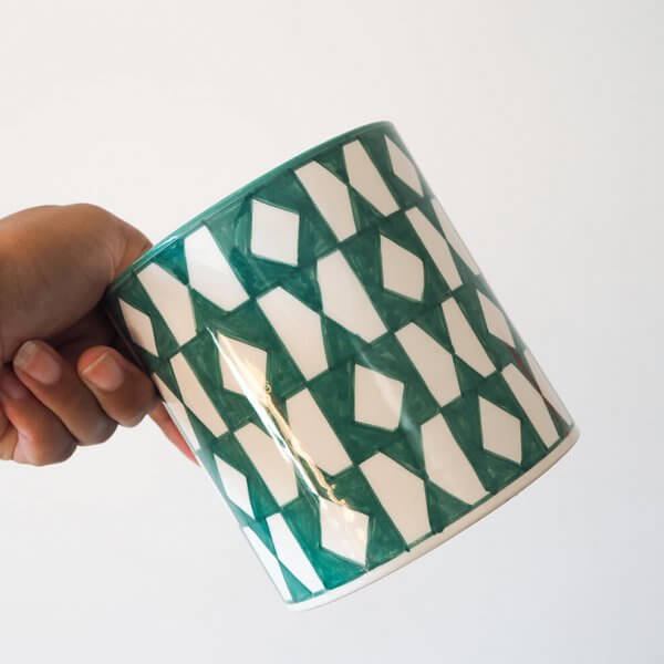 green-pattern-plant-pot