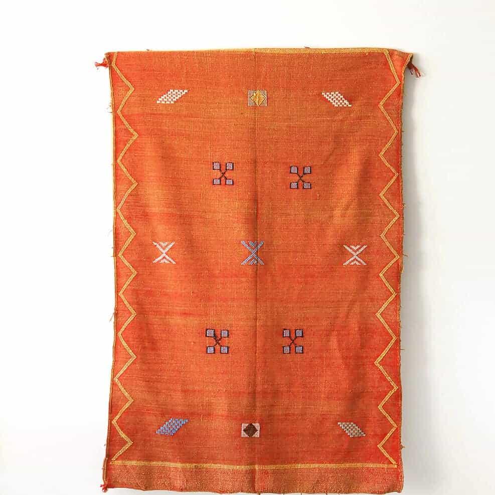 Vintage Orange Moroccan Woven Rug We Are Nomads