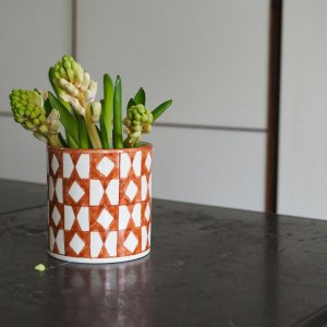 Orange pattern vase Chabi Chic