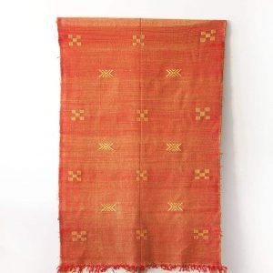 orange sabra moroccan rug
