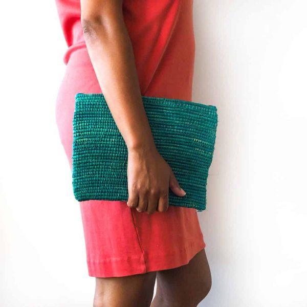 teal-straw-clutch-bag