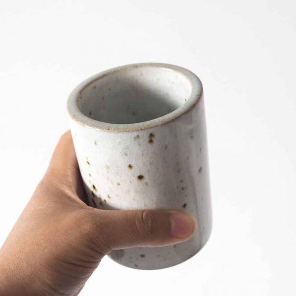 Ceramic crackle glaze vase
