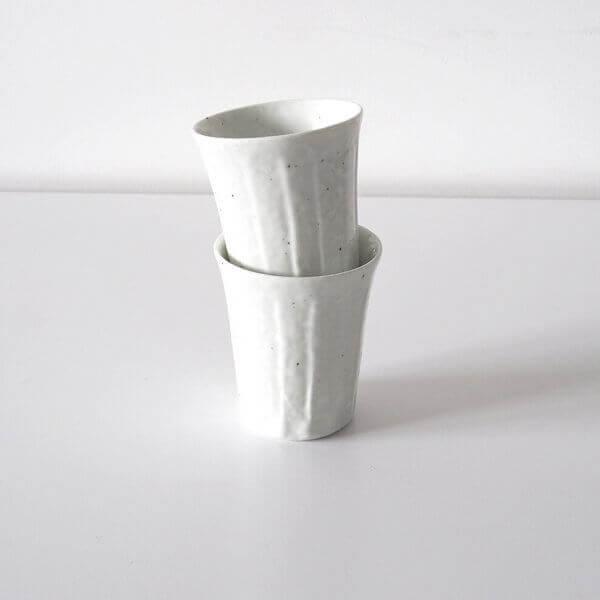 White ceramic cup set