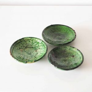 green moroccan pottery