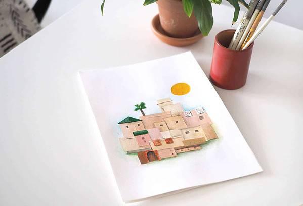 moroccan medina print