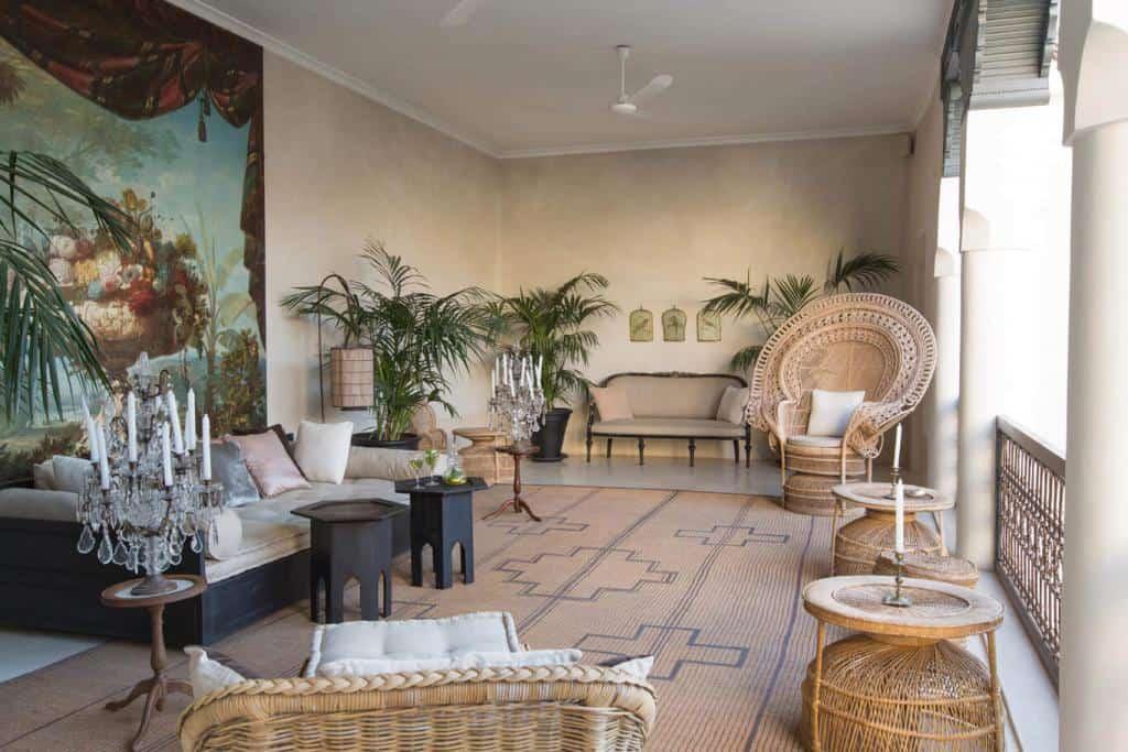 Riad Tarabel lounge area