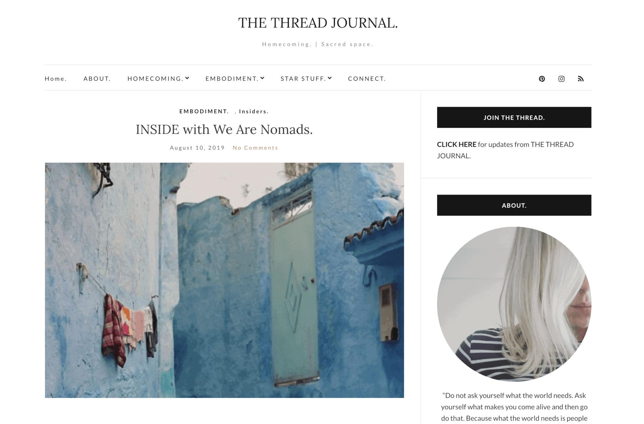 the thread journal