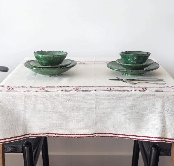 natural tablecloth