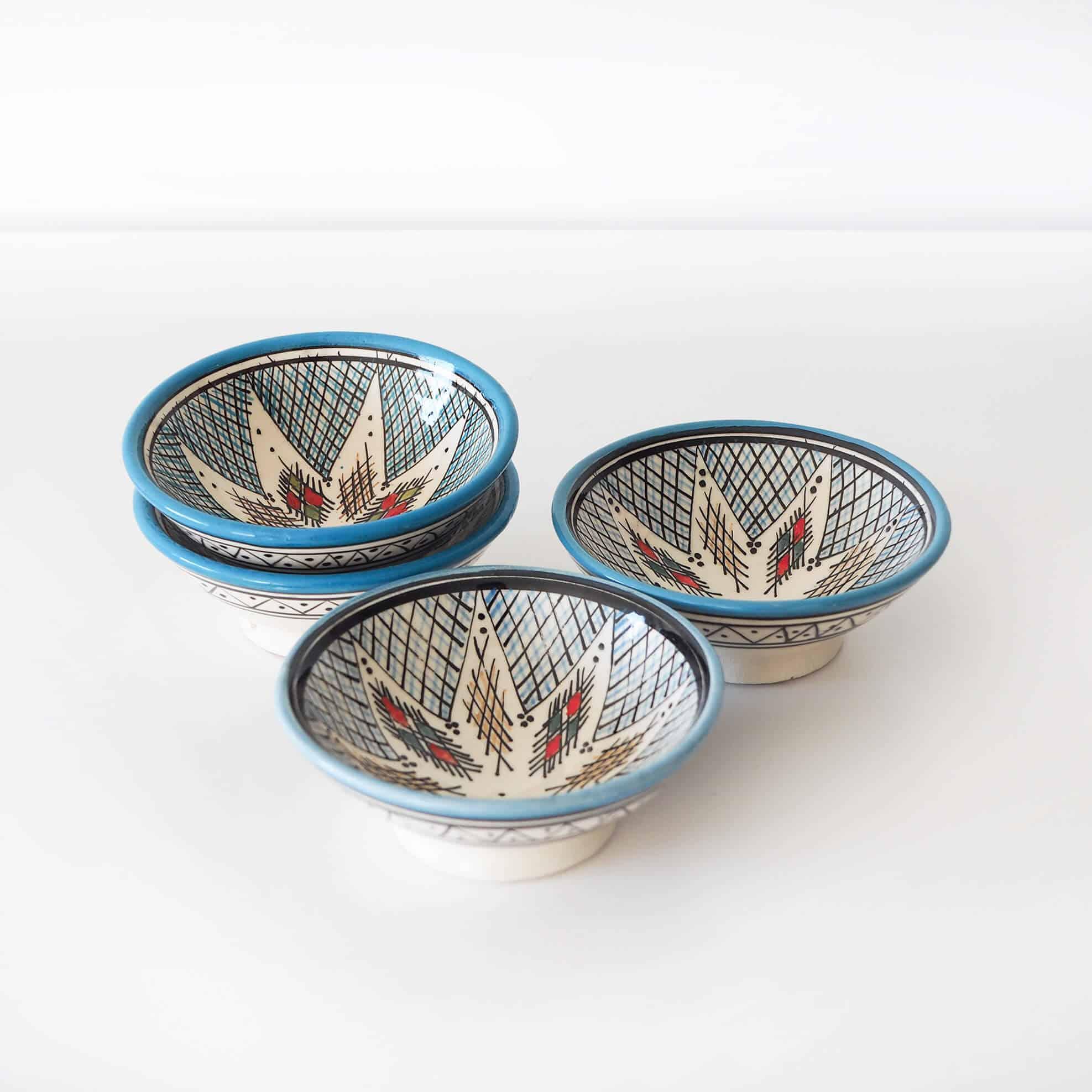 blue ceramic safi bowls
