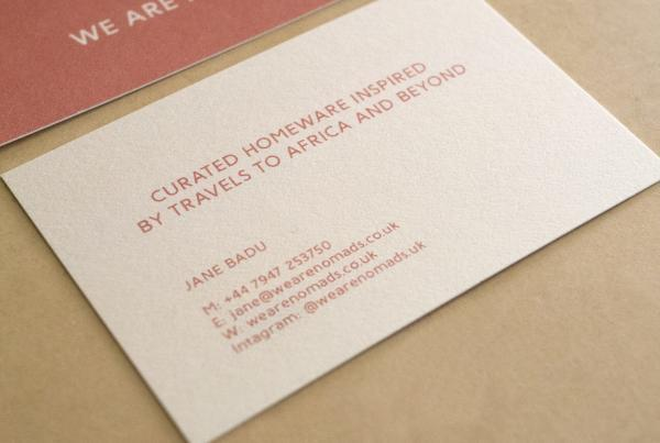 we are nomads business card