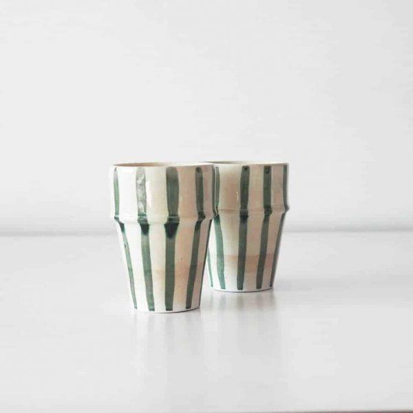 ceramics striped cups