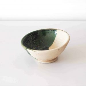 white green bowl