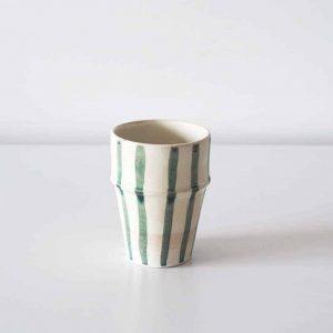 cream stripe cup