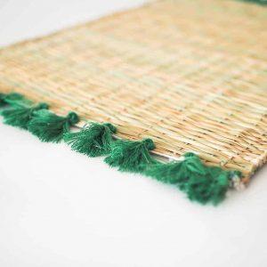 green woven dinner mat