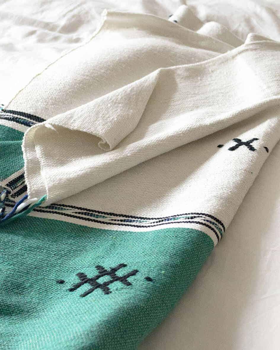handmade green blanket