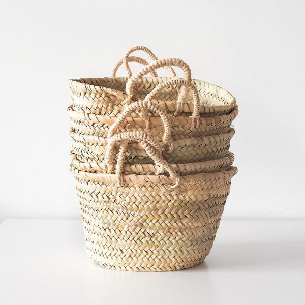 natural storage baskets