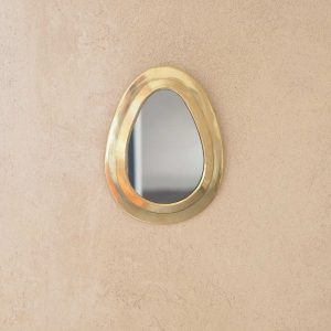 brass teardrop wall mirror