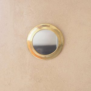 round brass wall mirror