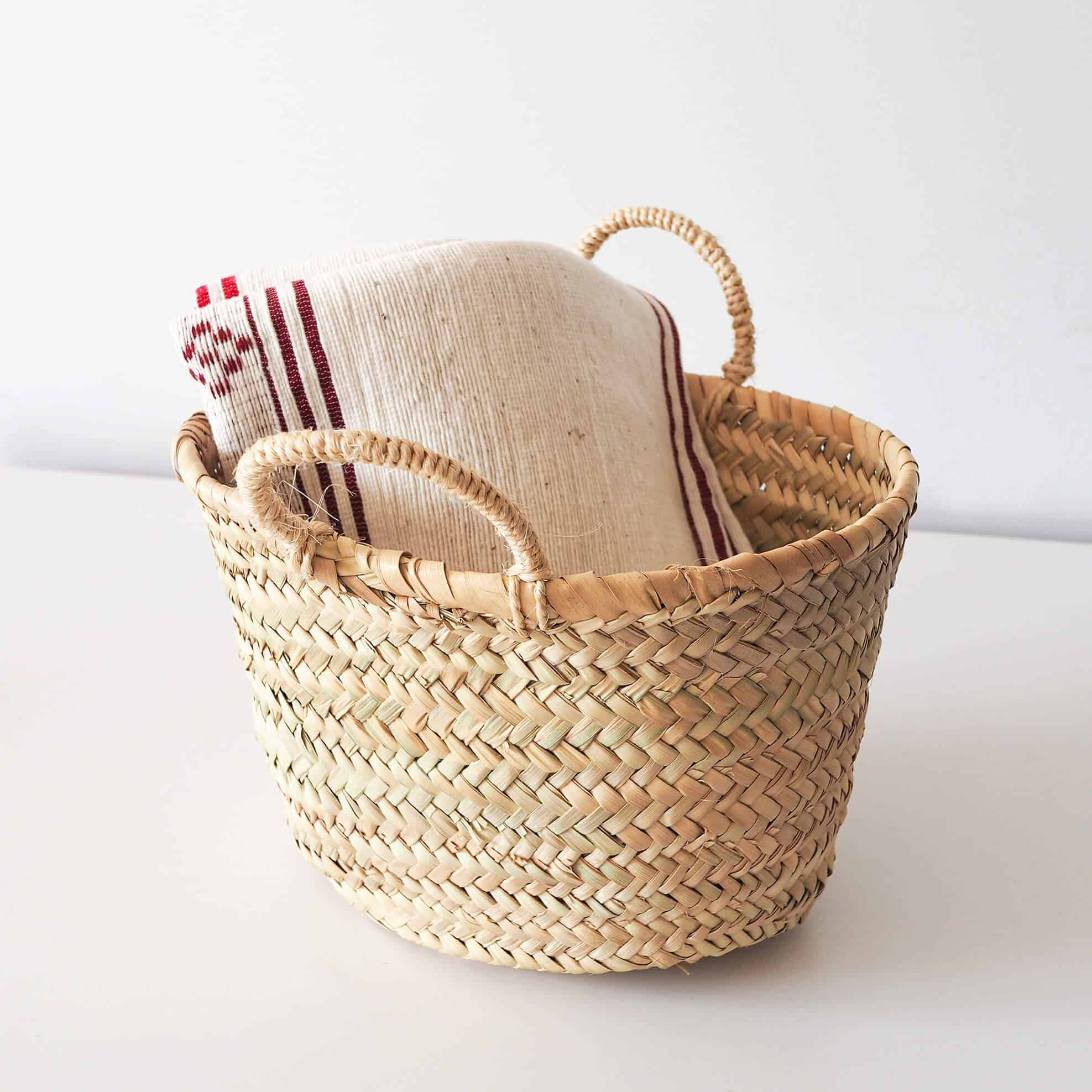 oval basket home storage