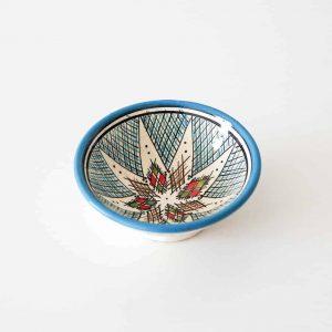 safi bowl with blue rim