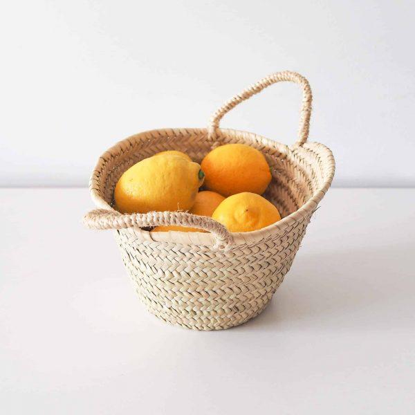 small round storage basket