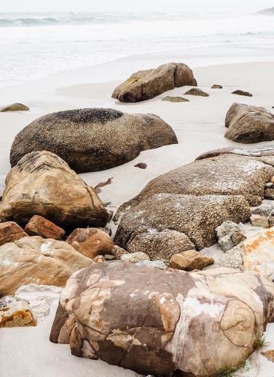 first clifton beach rocks