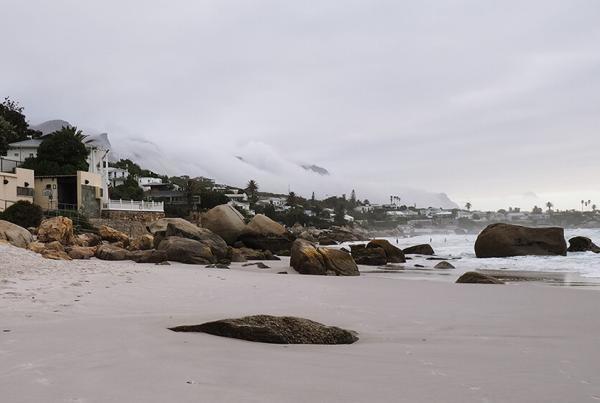 cloudy clifton beach
