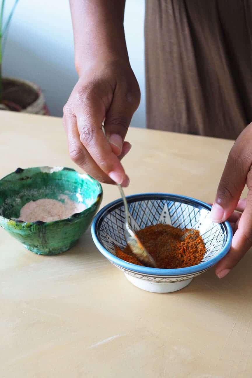 moroccan ceramic spice bowls
