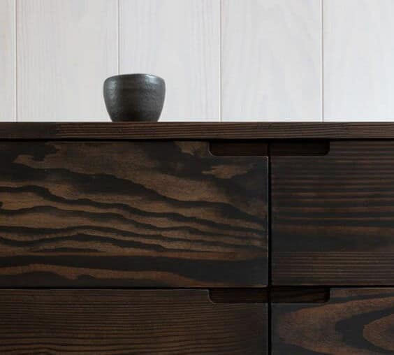 dark timber kitchen cabinet