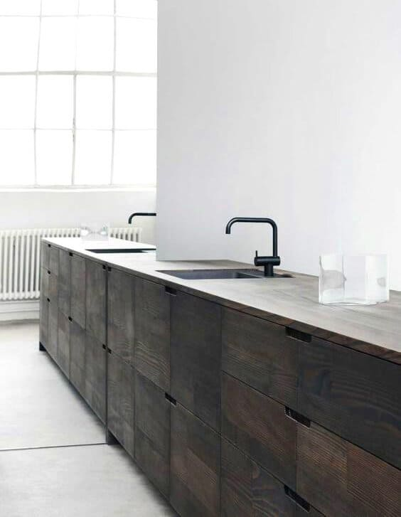 dark timber kitchen