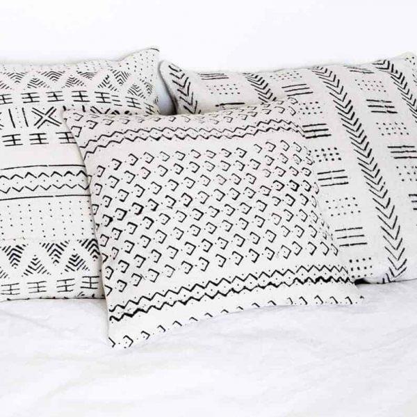 small mudcloth cushion