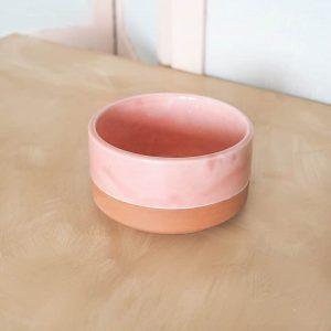 small pink bowl