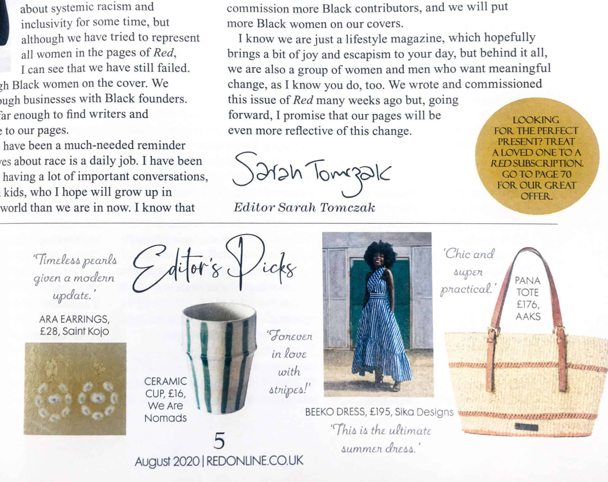 we are nomads in red magazine