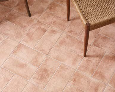 terracotta tiled floor