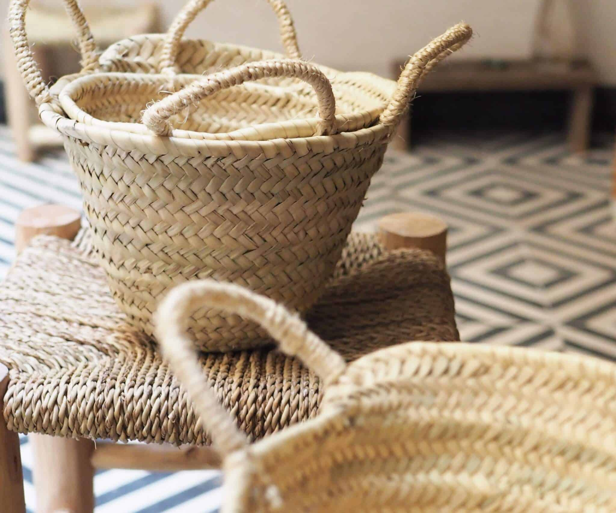 Woven baskets made in Morocco