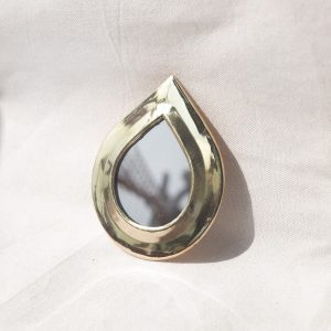 brass mini mirror