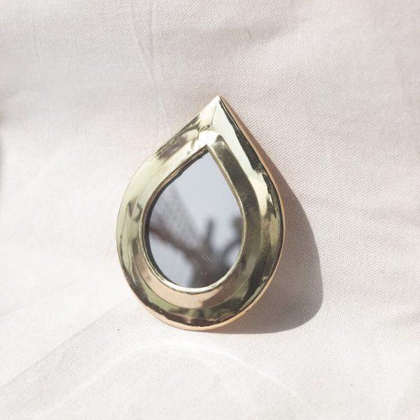 brass mini mirror