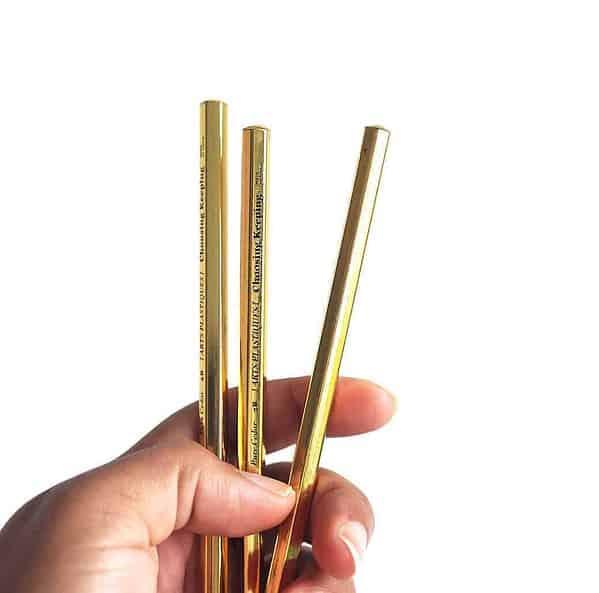 kintsugi stationery gold pencils